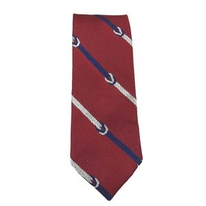 Tommy Hilfiger Neck Tie Red Square Knot Striped